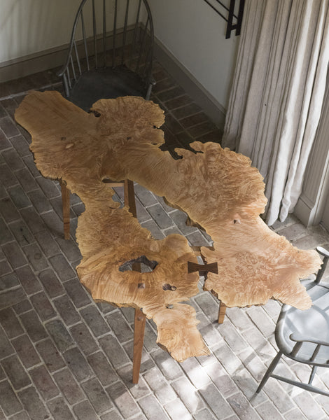 Daniel Oates for DBO HOME one of a kind Ripple Dining Table top view