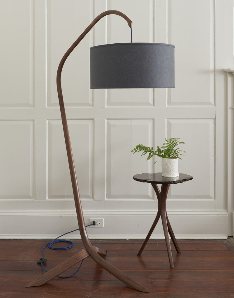 DBO HOME Willow Steam Bent Walnut Standing Lamp