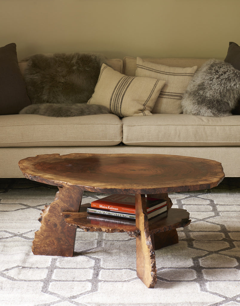 Daniel Oates for DBO HOME one of a kind claro walnut live edge coffee table