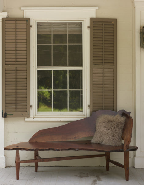 Claro Walnut Live Edge Chaise