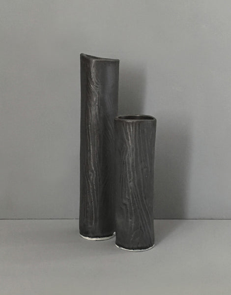 Burl Branch Vases (Set of 2)