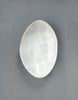 DBO HOME Handmade Porcelain Honeycomb Oval Serving Bowl top view