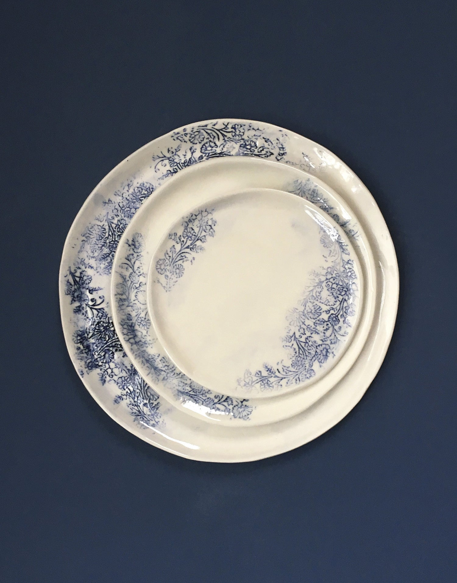 DBO HOME Handmade Porcelain Kashmir Dinnerware & DBO HOME Handmade Porcelain Kashmir Dinner Salad and Bread Plates