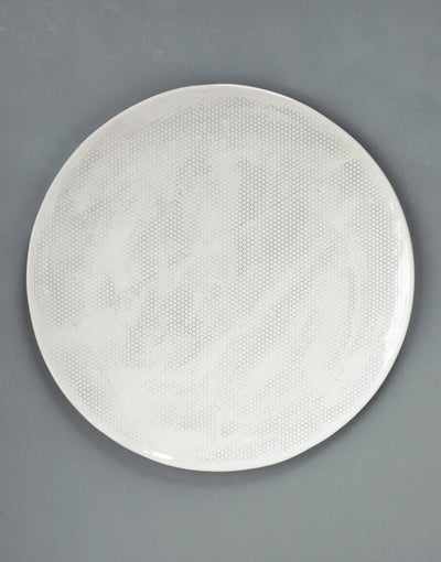 DBO HOME Handmade Porcelain Honeycomb Large Round Tray