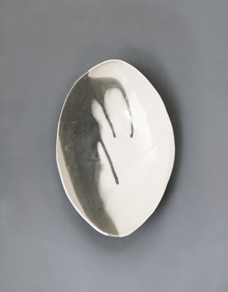 DBO HOME Handmade Porcelain Instant Karma Oval Serving Bowl
