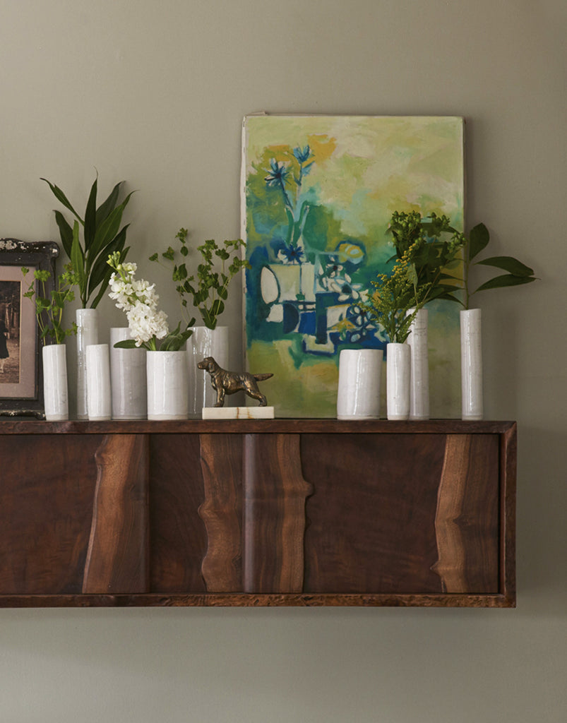 Daniel Oates for DBO HOME Live Edge Claro Walnut Floating Sideboard