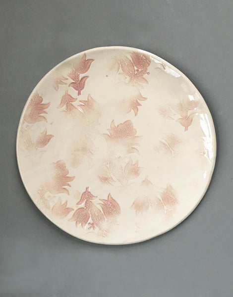 DBO HOME/John Robshaw Textiles Handmade Porcelain Round Serving Tray