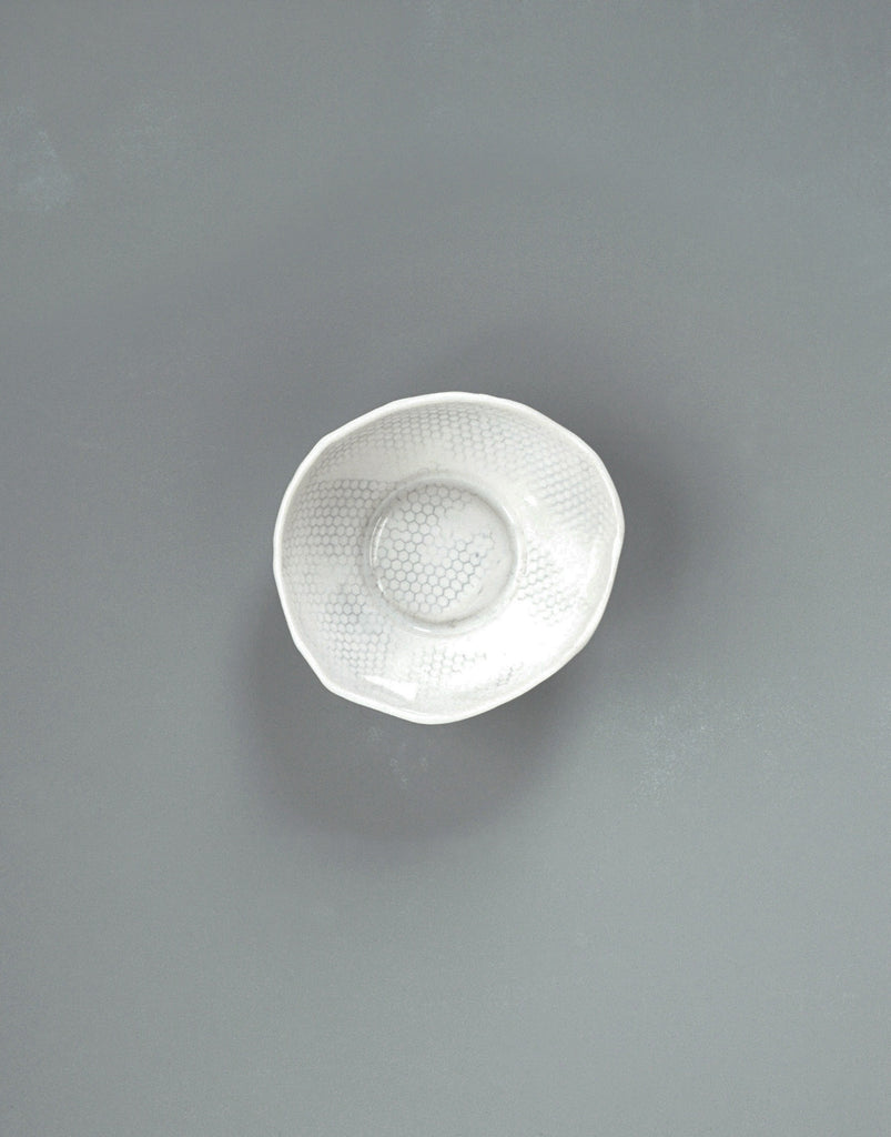 DBO HOME Handmade Porcelain Honeycomb Soup Bowl