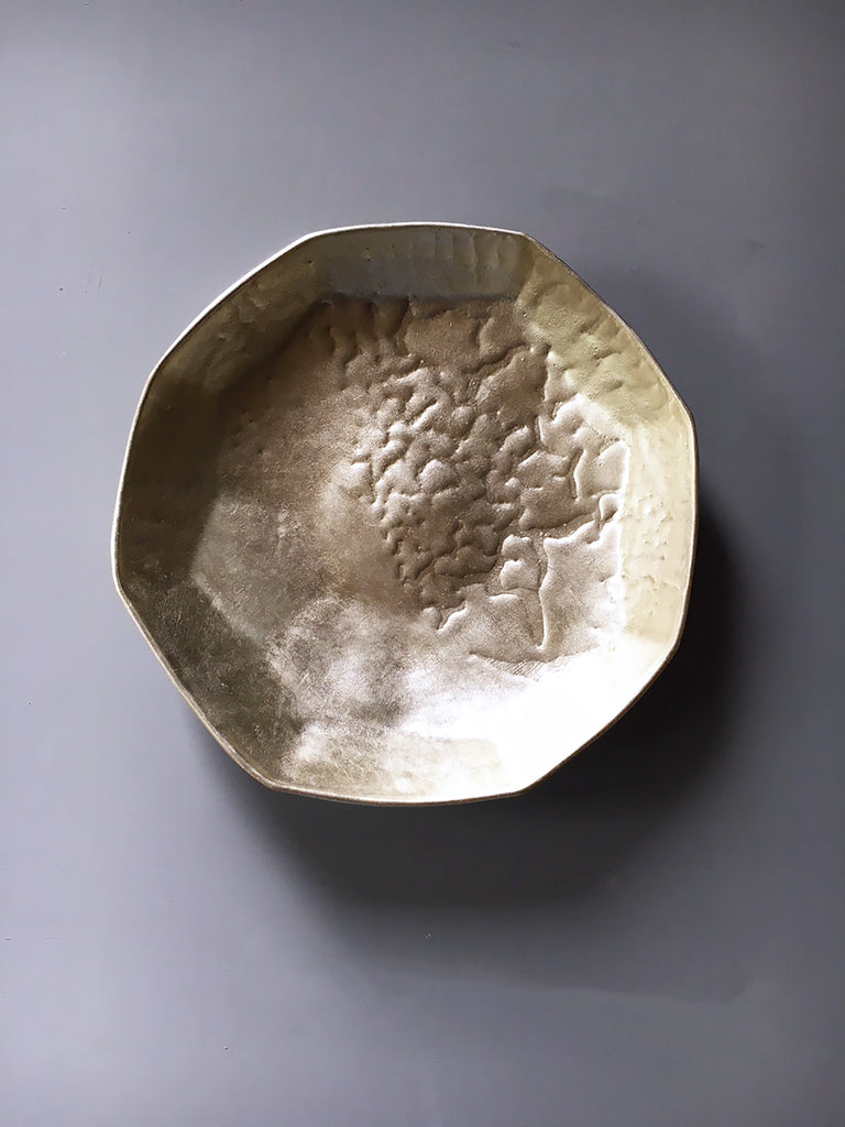 Gilded Battuto Serving Bowl #2