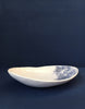 DBO HOME Handmade Porcelain Kashmir Oval Serving Bowl side view