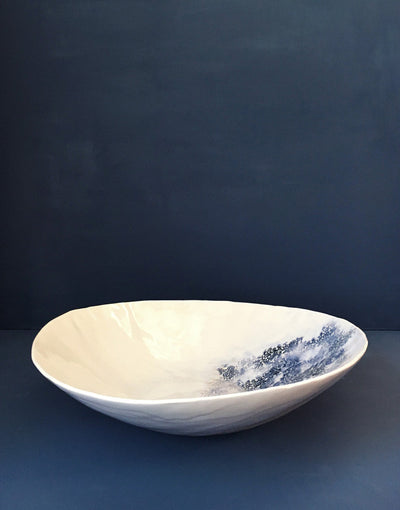 DBO HOME Handmade Porcelain Kashmir Extra large Bowl side view