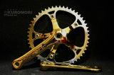 Colnago Panto on Gold Plated Campagnolo C-Record Crank.