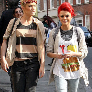 CHER LLOYD LOCAL CELEBRITY I LOVE BURGERS TANK TOP