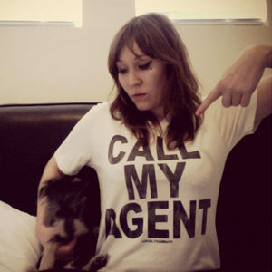 MICKEY O'BRIEN LA ROUX LOCAL CELEBRITY CALL MY AGENT T-SHIRT