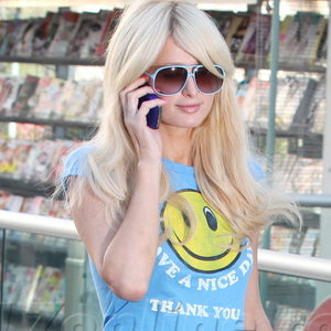 PARIS HILTON LOCAL CELEBRITY HAVE A NICE DAY TSHIRT