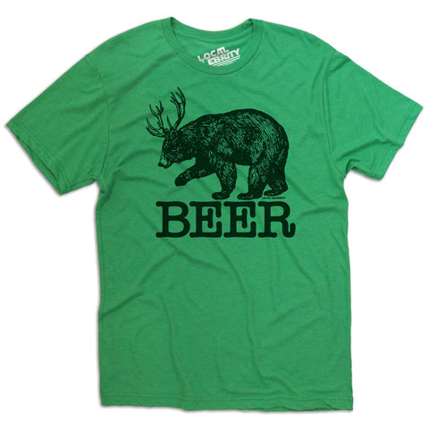 Beer Bear T-Shirt Green