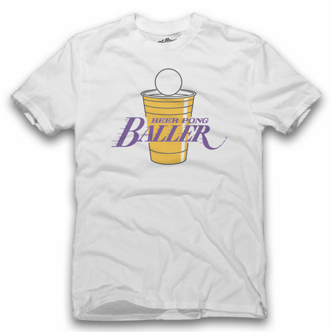 Beer Pong Baller Lakers T-Shirt