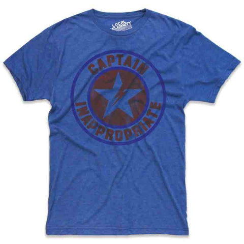 Captain Inappropriate T-Shirt, Royal Blue