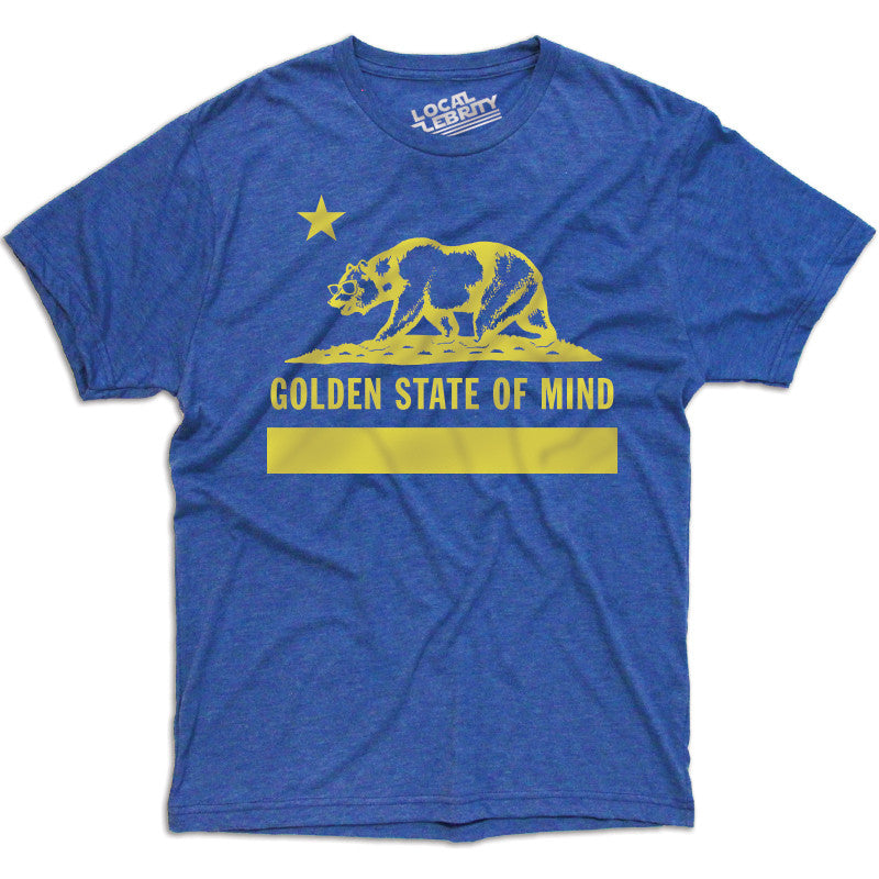 Golden State Of Mind T-Shirt Blue