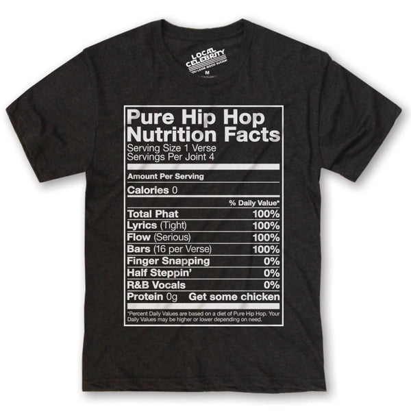 Hip-Hop Nutrition Facts T-Shirt Black