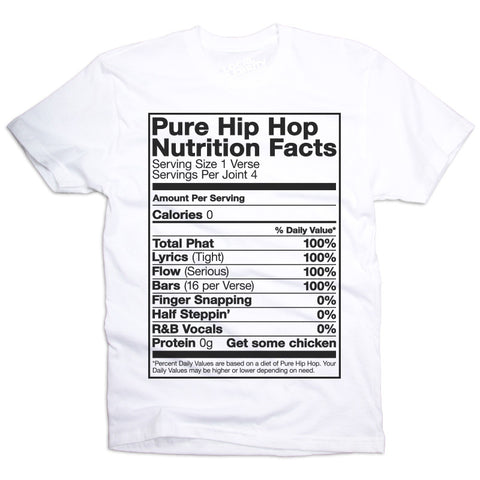Hip-Hop Nutrition Facts T-Shirt