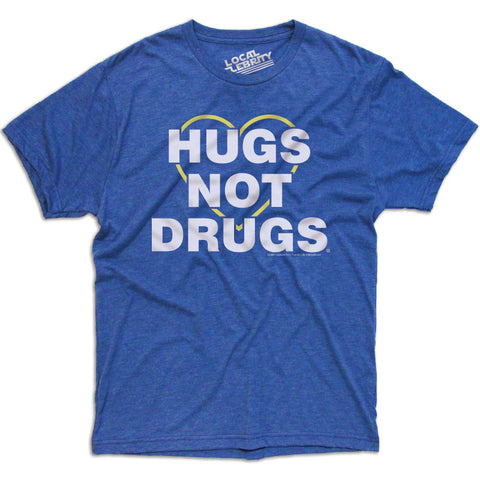 Hugs Not Drugs T-Shirt Blue