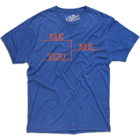 Me vs You T-Shirt Blue