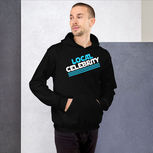 Local Celebrity® Hoodie, Classic Logo, Cyan
