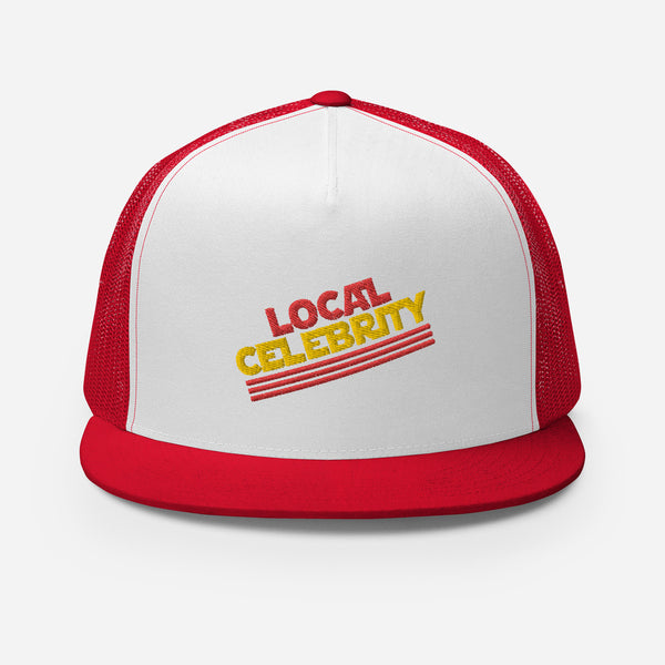 Local Celebrity® Embroidered Trucker Cap, Red