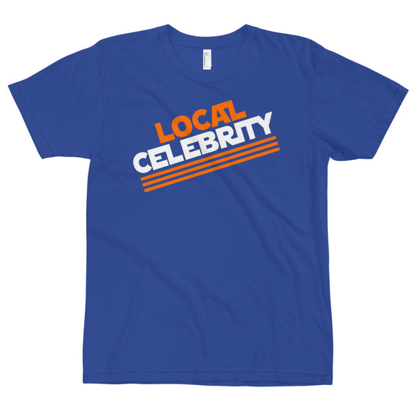 Local Celebrity® Orange Logo Tee. Made in the USA