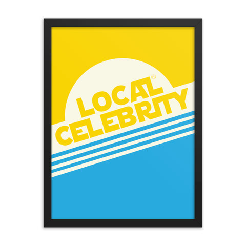 Local Celebrity® Wood Framed Posters, Yellow