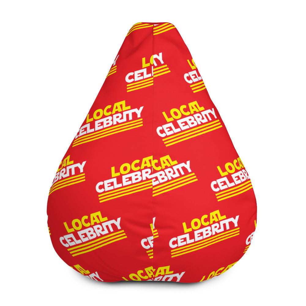 Local Celebrity® Bean Bag Chair w/ filling, Red