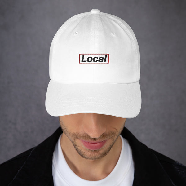 Local Red Box, Embroidered Dad Hat