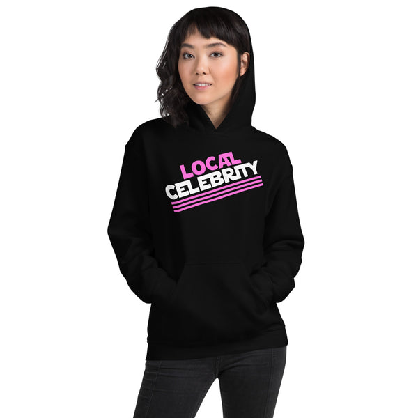 Local Celebrity® Hoodie, Classic Logo, Pink