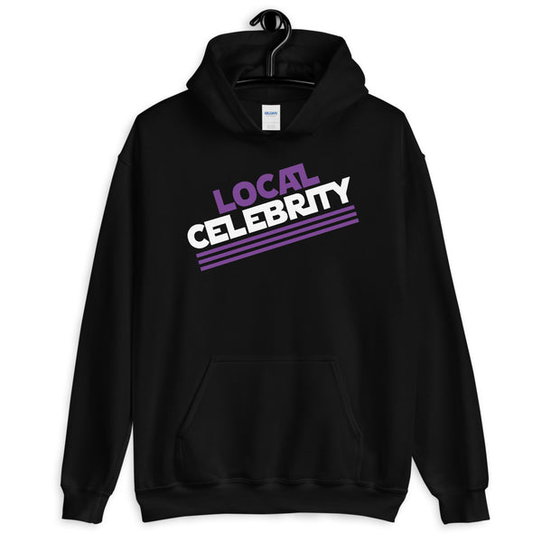 Local Celebrity® Hoodie, Classic Logo, Purple