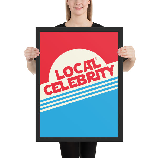 Local Celebrity® Wood Framed posters, Red