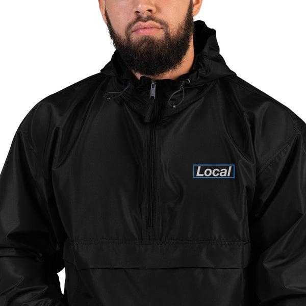 Embroidered Local Celebrity x Champion Packable Jacket, Black