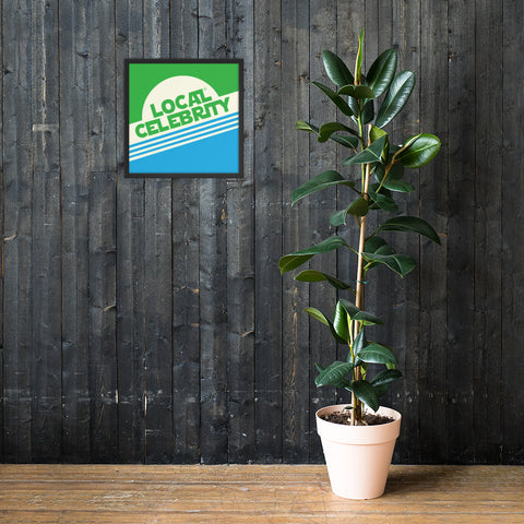 Local Celebrity® Wood Framed Posters, Green