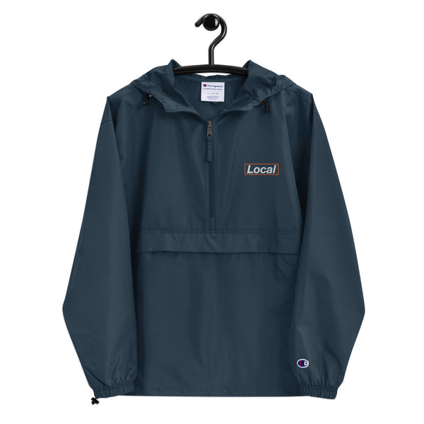 Embroidered Local Celebrity x Champion Packable Jacket, Navy