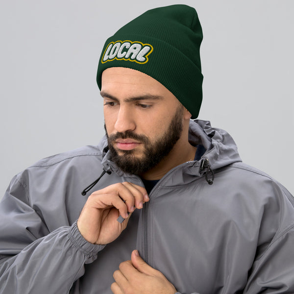 Local Cuffed Beanie, Green