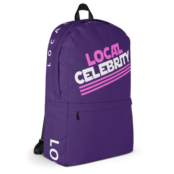 Local Celebrity® Backpack, Purple