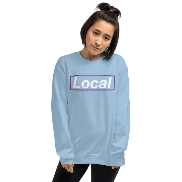 Local Purple Box, Unisex Sweatshirt