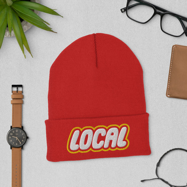 Local Cuffed Beanie, Red