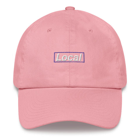 Local Purple Box, Embroidered Dad Hat