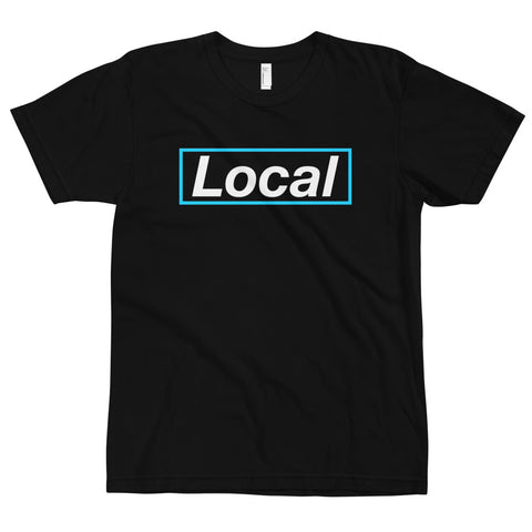 Local Cyan Box Tee, Made in the USA