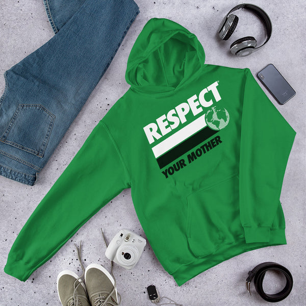 Respect Your Mother® Unisex Hoodie, Green