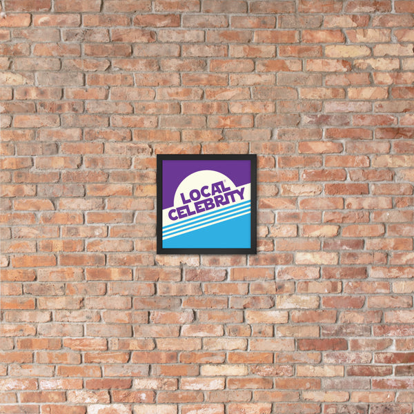 Local Celebrity® Wood Framed Posters, Purple