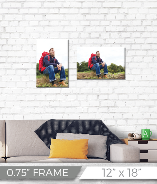 "12"" x 18"" Full Color Printed Canvas - 0.75"" Frame"