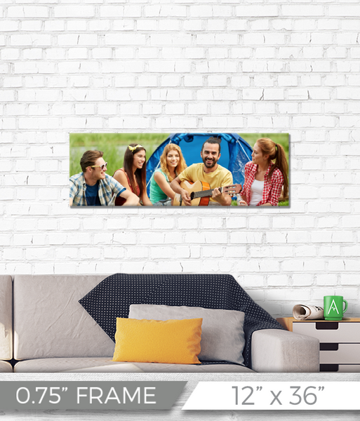 "12"" x 36"" Full Color Printed Canvas - 0.75"" Frame"