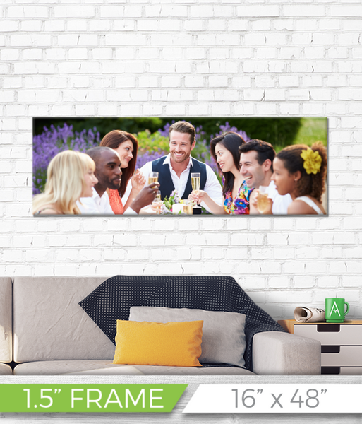 "16"" x 48"" Full Color Printed Canvas - 1.5"" Frame"